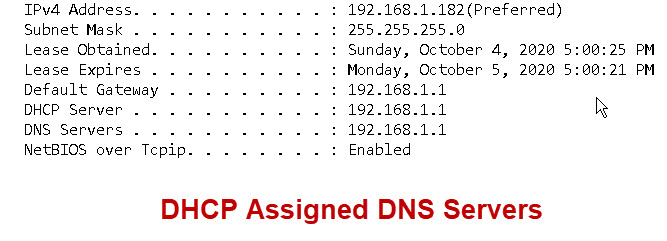 DHCP-assigned-DNS