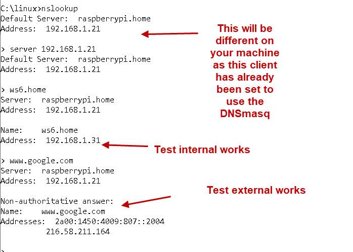 DNSMasq-test