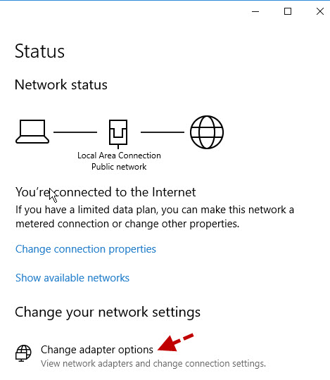 network-status-window