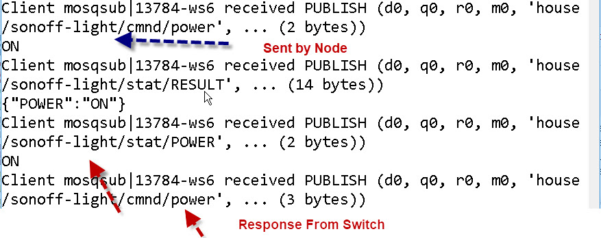 Controlling the Tasmota SonOff Switch with Node-red